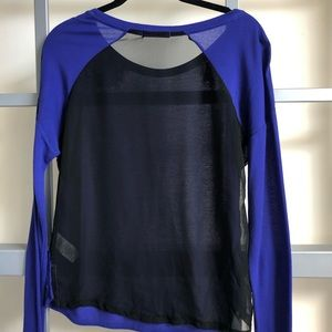 Garage Long Sleeve Purple / Black Casual Shirt